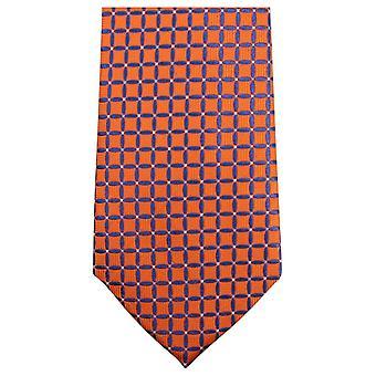 Knightsbridge Krawatten geometrische Krawatte - Orange/Blau