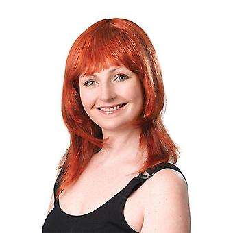 Warstwowe kobiece Wig. Ginger.