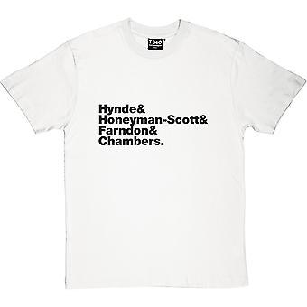 Pretenders Line-Up mäns T-Shirt