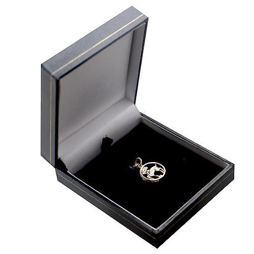 9ct Gold 11mm pierced Aries Zodiac Pendant