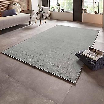 Velour carpet bare uni light grey