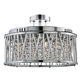 Elise Chrome og krystall fem lys taket Light - søkelys 8335-5CC