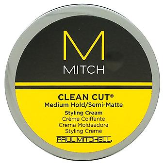Mitch propre coupe crème moyenne Hold/Semi-Matte style Paul Mitchell pour hommes - 3 oz crème