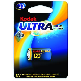 Kodak Battery Lithium CR123A, CR123,123, 3V