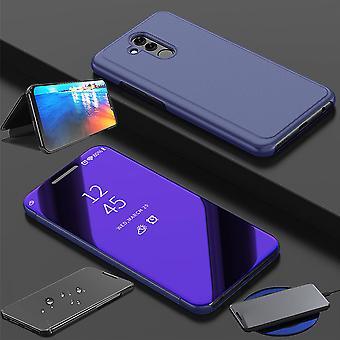 עבור Huawei P30 Lite מבט מראה ראי מראה Smartcover מקרה מגן סגול מכסה מקרה מקרה מקרה המקרה החדש במקרה התעוררות פונקציה