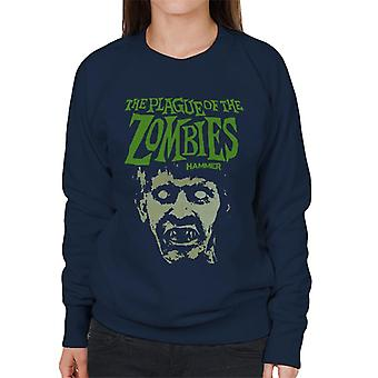 Hammer The Plague Of The Zombies Face Poster Women's Sweatshirt