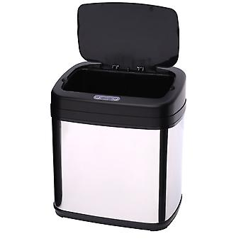 HOMCOM 15L LUXURY Automatic Sensor Dustbin Kitchen Waste Bin Rubbish Trashcan Auto Dustbin Stainless Steel with Bucket 33*25*37.5CM