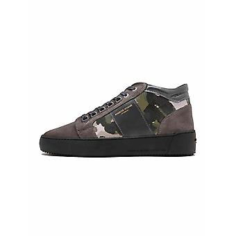 Android Homme  Grey Camouflage Suede Propulsion Mid Sneaker