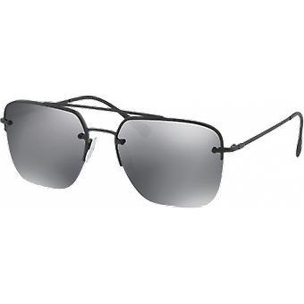 Prada SPS54S zwart gespiegeld grijze Rubber zwart