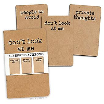 Archie McPhee Introvert Notebooks Set von 3