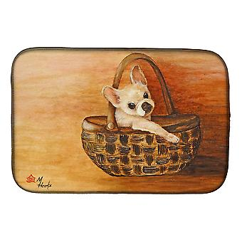 Carolines Treasures  MH1063DDM Chihuahua Take me TOO Dish Drying Mat