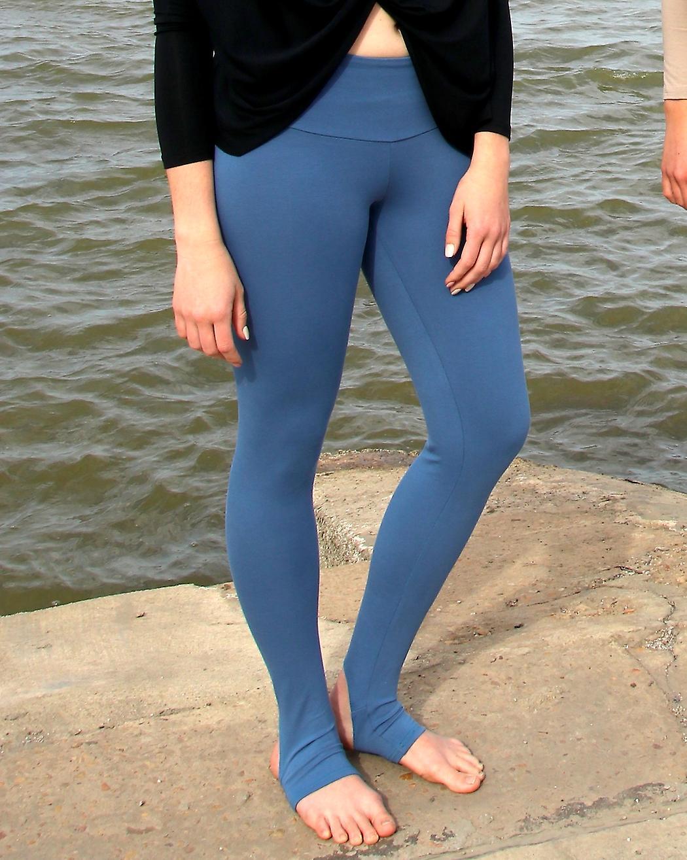 Cotton Rich Open Heel Yoga Leggings