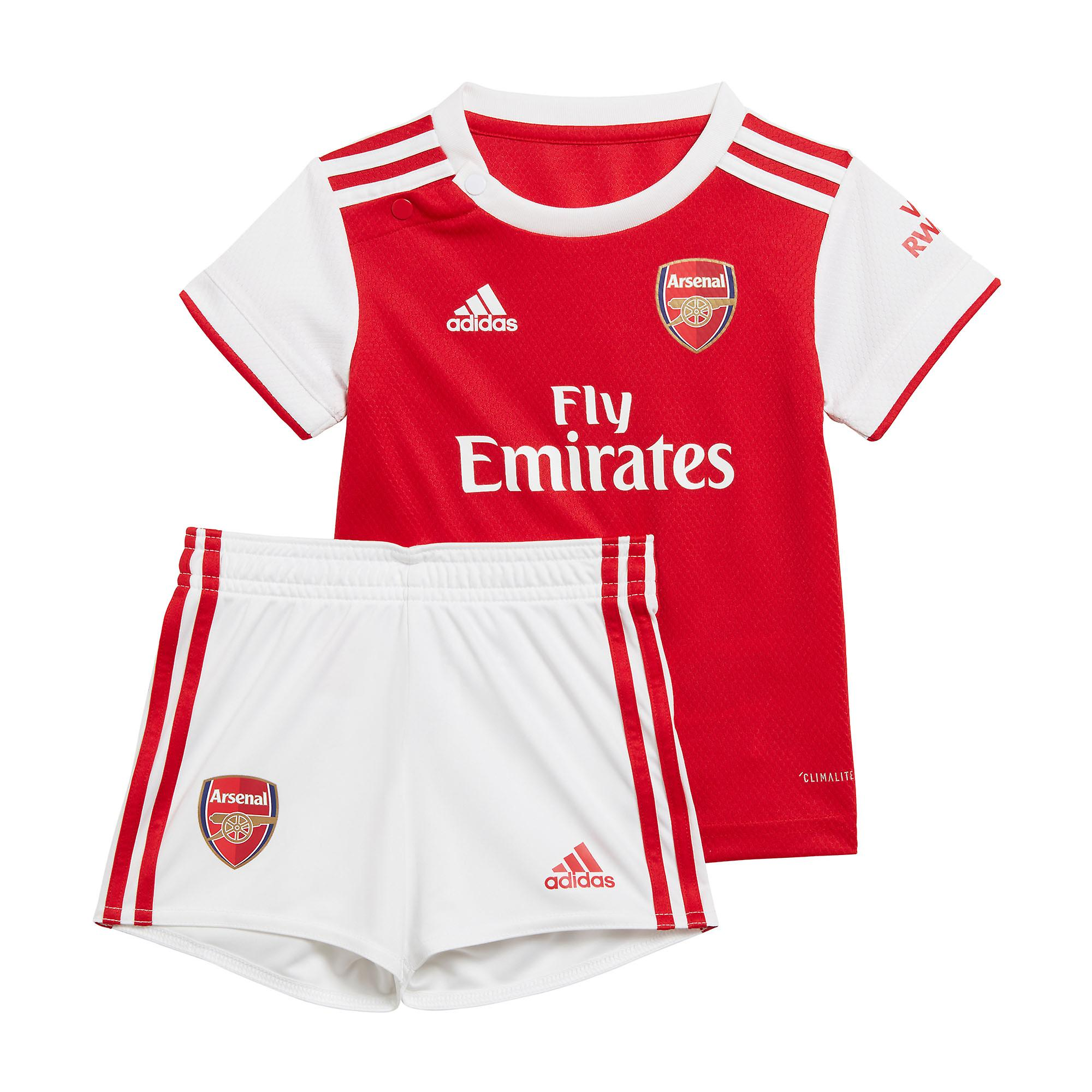 adidas Arsenal 2019/20 Infant Kids Baby Home Football Kit Red