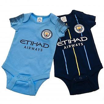 Manchester City 2 Pack Bodysuit 3-6 Meses NV