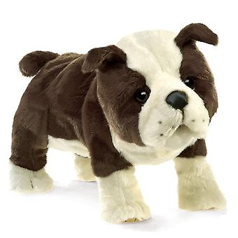 Hand Puppet - Folkmanis - Bulldog English Puppy New Toys Soft Doll Plush 3111