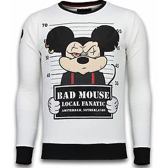 Bad Mouse - Rhinestone Sweater - Wit
