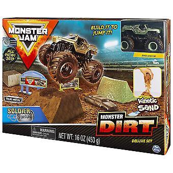 Monster Jam Kinetic Dirt Deluxe Set Soldier Fortune