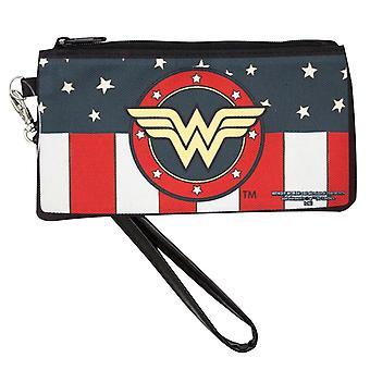 Wonder Woman Canvas Zipper Wallet