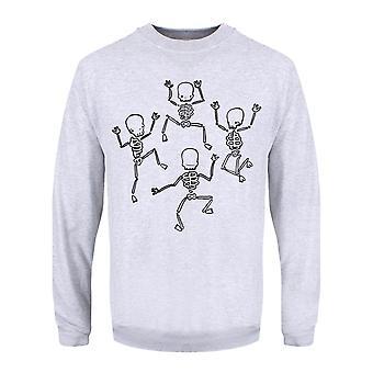 Grindstore Herren tanzen Skelette Pullover