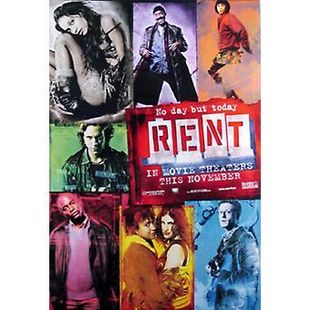 Rent (Single Sided Advance) (Uv Coated/High Gloss) Original Cinema Poster
