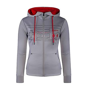 Nintendo Hoodie Controller Outline Logo new Official Womens Grey Pullover