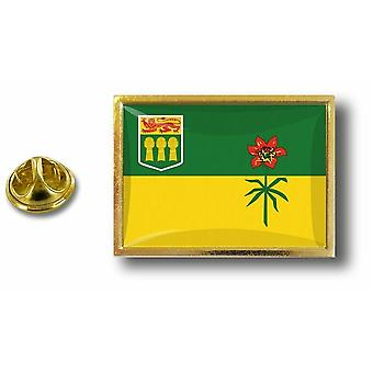 Pine PineS Badge Pin-apos;s Metal With Butterfly Pinch Flag Canada Saskatchwan