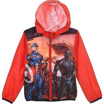 Boys SE1350 Marvel Avengers Lightweight Hooded Jacket with Bag
