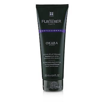 Rene Furterer Okara Silver Silver Radiance ritual Toniing condicionador-Gray, cabelo branco (produto Salon) 250ml/8.4 oz