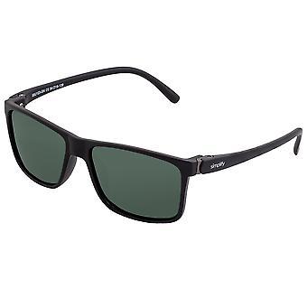 Simplificar Ellis Gafas de Sol Polarizadas - Negro Mate/Negro
