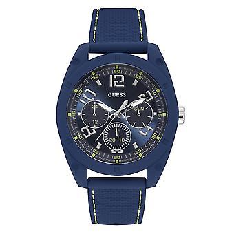 Guess W1256G3 Men's Dash Blue Dial Wristwatch