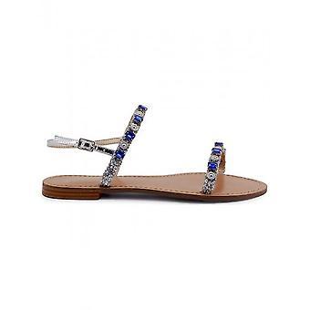 Versace Jeans - Shoes - Sandal - VRBS52_900_ARGENTO - Women - silver,blue - 37