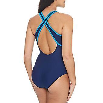Black Zoggs Womens Minnamurra Zipped Back Swimming Pool Swim Swimsuit Costume