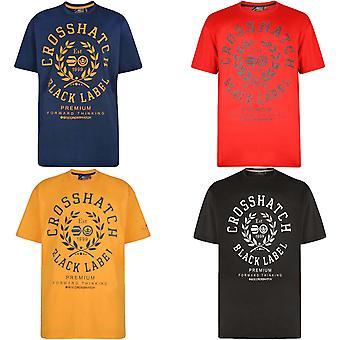 Crosshatch Mens Laygos Big & Tall Kingsize Cotton T Shirt Top Tee