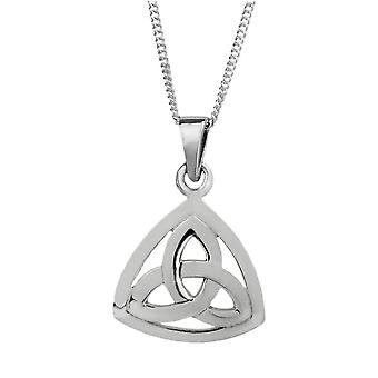 "Celtic Holy Trinity Knot Necklace Pendant Triangle Shape - Includes 18"" Chain"