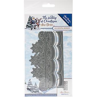 Find It Trading Amy Design Die-Ice Crystal Border, Feeling Of Christmas