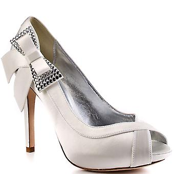 Bourne Women's Alexa Peeptoe Bridal Shoes