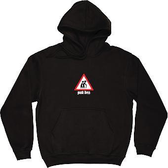 Punk Lives Black Hooded-Top