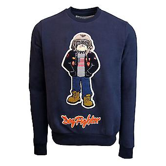 Top Gun Dog Fighter Crewneck Sweatshirt Navy Blue