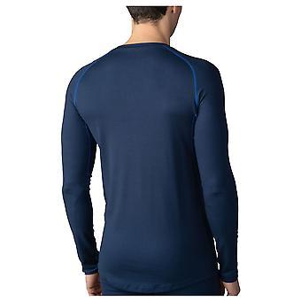 Mey 43004-668 Men's High Performance Yacht Blue Long Sleeve Top