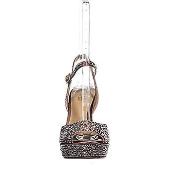 Thalia Sodi TS35 Bridget Sequined Peep Toe Ankle Strap Sandals, Mauve, 10 US