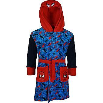 Мальчики RH2092 Marvel Spiderman флис с капюшоном халата размер: 3-8 лет