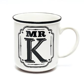 History & Heraldry Alphabet Mugs-mr K
