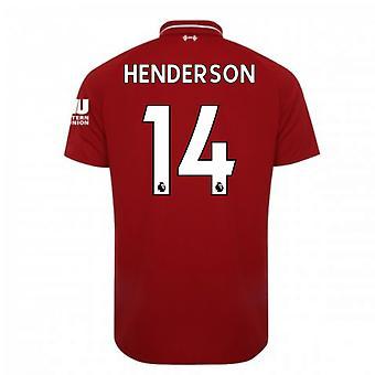 2018-2019年リバプールのホーム サッカー シャツ (ヘンダーソン 14)