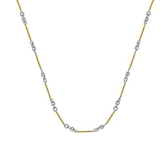 14k Yellow and White Gold White And Yellow Twisted Bar Cable Chain Ankle Bracelet 10 Inch Jewelry Gifts for Women