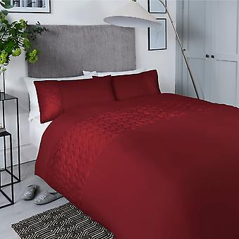 Pinsonic Cube Red Bedding Set