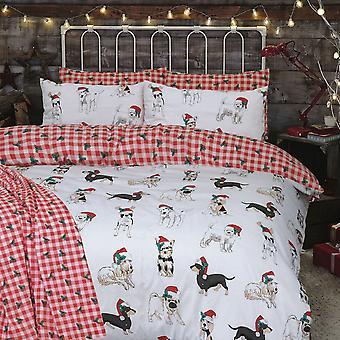 Weihnachten Hunde Bettwäsche Set