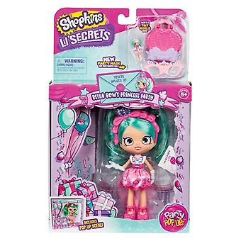 Shopkins lil' Geheimnisse Party Pop-ups Shoppies Puppe - bella bow's Prinzessin Party