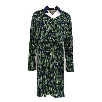 Kelly by Clinton Kelly Dress Printed W/ Ruffle Detail Blue A365611