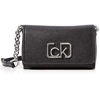 Calvin Klein Ck Cast Sml Flap Xbody - Borse Tote Donna Nero (Negru) 7x16x15 cm (W x H L)