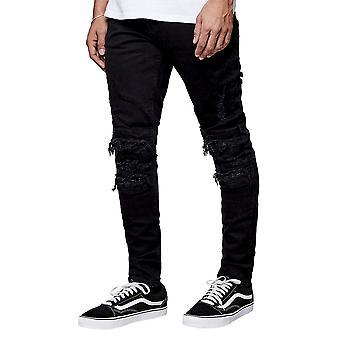 CAYLER & SONS Men's Jeans ALLDD Paneled Inverted Biker Ian